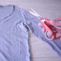 男用のロングTシャツを女性の服みたいにリメイク・カスタムする方法【女装服の自作】