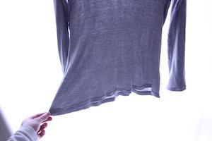 ロングTシャツ裾のカスタム