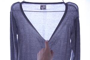 ロングTシャツ襟元のカスタム