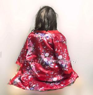 ラブボディAKIに花魁風の和服を着せ替えた後ろ姿