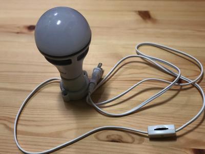 スピーカー内蔵の音楽再生機能付きの調光・調色できるLED電球