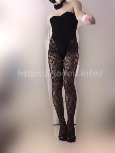 バニーガールのハイレグは脚長効果があることの実証画像